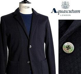 Aquascutum【アクアスキュータム】定価110,000円(税込)◆50%OFF◆日本製ジャージージャケット綿100% ネイビー