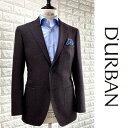 D'URBAN【ダーバン】日本製シルク混ウールジャケットチェック ボルドー×ブラック系総裏仕立て