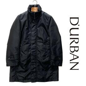 D'URBAN【ダーバン】長袖ダウンライナー付きスタンドカラーコートアウター 黒 ブラックダウン90%充填