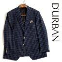 D'URBAN【ダーバン】日本製シルクリネン混ウールジャケットMONSOON素材ネイビー 紺背抜き仕立て