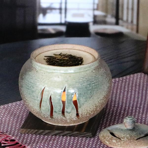 茶香炉 陶器茶香炉 陶器アロマ 茶 しがらき 焼き物 信楽焼 火 キャンドル 茶こうろ 香炉 ギフト [ty-0013]