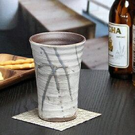 信楽焼フリーカップ!花ちらし(ブルー)フリーカップ/信楽/ビアカップ/土ものカップ/陶器ビアカップ/ビアグラス/コップ/やきもの器/焼き物/タンブラー/ビアマグ/食器【w902-03】