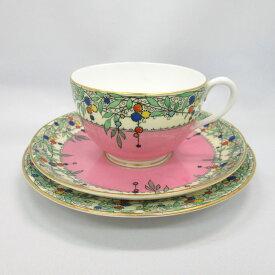 アンティーク トリオ ティーカップ&ソーサー Royal Worcester ロイヤルウースター 1931年頃 ヴィンテージ 食器 陶磁器 キッチン雑貨 テーブルウェア ティ—セット 茶器
