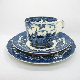アンティーク トリオ カップ&ソーサー Royal Worcester Spode ロイヤルウースタースポード 1976-1989年頃 ヴィンテージ 食器 陶磁器 キッチン雑貨 テーブルウェア ティ—セット 茶器