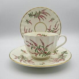 アンティーク トリオ ティーカップ&ソーサー Royal Worcester ロイヤルウースター Dunrobin ダンロビン 1963年頃 ヴィンテージ 食器 陶磁器 キッチン雑貨 テーブルウェア ティ—セット 茶器