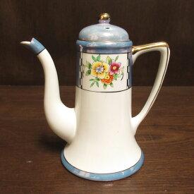 アンティーク ティーポット Noritake オールドノリタケ 英国輸出用 1921-41年 ヴィンテージ 食器 陶磁器 キッチン雑貨 テーブルウェア ティ—セット 茶器