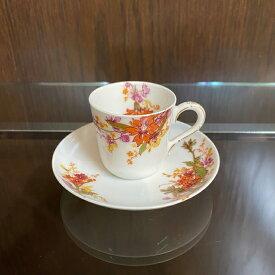 アンティーク デミタス カップ&ソーサー Haviland アビランド リモージュ フランス 1879-89年 ヴィンテージ 食器 陶磁器 キッチン雑貨 テーブルウェア ティ—セット 茶器