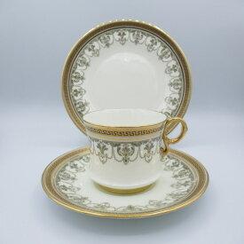 アンティーク トリオ カップ&ソーサー Cauldon コールドン 1905-20年頃 ヴィンテージ 食器 陶磁器 キッチン雑貨 テーブルウェア ティ—セット 茶器
