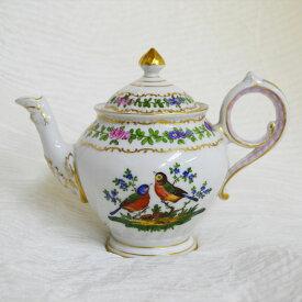 ヴィンテージ 食器 陶磁器 キッチン雑貨 テーブルウェア ティーセット 茶器 Dresden アンティーク ティーポット ドレスデン ハンドペイント ドイツ 1883-1893年頃