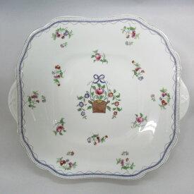 アンティーク食器 エインズレイ 大皿・プレート 1913年 一部ハンドペイント(手描き) 少しカタツキ 少しザラつき
