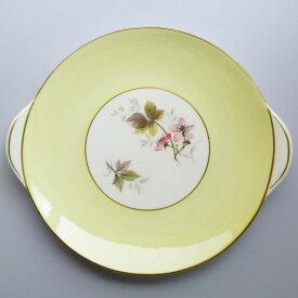 アンティーク プレート shelley シェリー bramble 1940-1966年頃 ヴィンテージ 食器 陶磁器 キッチン雑貨 テーブルウェア 大皿 花柄 木イチゴ