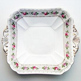 アンティーク プレート shelley シェリー 1913-1926年頃 一部ハンドペイント 花柄 ヴィンテージ 食器 陶磁器 キッチン雑貨 テーブルウェア 大皿 薔薇 バラ