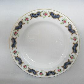 アンティーク食器 ロイヤルウースター 小皿・プレート貫入少し 1924年マーク一部ハンドペイント(手描き)
