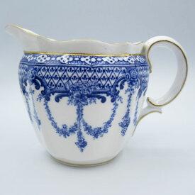 アンティーク食器 ロイヤルクラウンダービー ミルクジャグ(クリーマー) ブルー&ホワイト ガーランド 1900年に製造 気品のあるデザイン