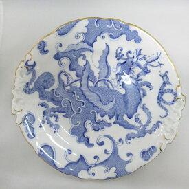 アンティーク食器 ロイヤルウースター 大皿・プレート 1909年頃 ドラゴン シノワズリ ハンドル付 転写