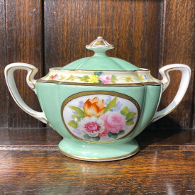 アンティーク シュガーポット Noritake オールドノリタケ アメリカ輸出用 1921-41年頃 花柄 ハンドペイント ヴィンテージ 食器 陶磁器 キッチン雑貨 テーブルウェア