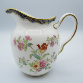 アンティーク食器 ウェッジウッド ミルクジャグ(クリーマー) 1891-1900年頃 一部ハンドペイント(手描き) 花柄