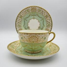 アンティーク トリオ ティーカップ&ソーサー Royal Worcester ロイヤルウースター 1939年頃 ヴィンテージ 食器 陶磁器 キッチン雑貨 テーブルウェア ティ—セット 茶器