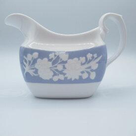 アンティーク食器 コープランド・スポード ミルクジャグ(クリーマー) 1970年頃 花柄 エンボス