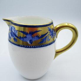 アンティーク食器 シェリー ミルクジャグ(クリーマー) 1910-1916年 金彩・藍色・野鳥・シノワズリ