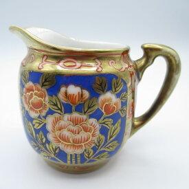 アンティーク食器 オールドノリタケ ミルクジャグ(クリーマー) 1906-25年頃 ハンドペイント(手描き)・金彩・赤・青・シノワズリ
