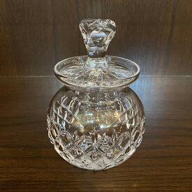 アンティーク クリスタルポット Stuart Crystal イギリス ヴィンテージ キッチン インテリア 雑貨 収納 ボックス キャニスター ガラス