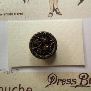 アンティーク裁縫、ソーイング ボタン ヴィンテージ メタル・ミラーバック ヴィクトリアンボタン