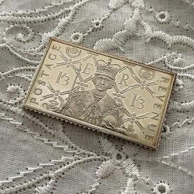 アンティーク 銀製 切手レプリカ エリザベス2世 1935年 エリザベス女王 在位25周年記念 ヴィンテージ アニバーサリー メモリアルグッズ 英国王室 925シルバー スタンプ コレクション 25th メダル