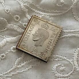 アンティーク 銀製 切手レプリカ ジョージ6世 エリザベス女王 在位25周年記念 ヴィンテージ アニバーサリー メモリアルグッズ 英国王室 925シルバー スタンプ コレクション 25th メダル