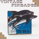 【ピンバッジ】WWF(世界自然保護基金)のバッジ いるか/アクセサリー・ピンブローチ/アンティーク・ヴィンテージ品/1点物[メール便OK]