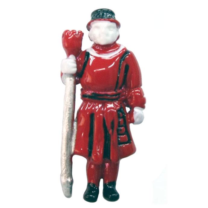 ピンバッジ ラペルピン ピンズ スーツ メンズ レディース おしゃれ おもしろい ユニーク イギリス ロンドン 塔 衛兵 ヨーマン・ウォーダーズ Beefeater 赤 雑貨 グッズ [メール便OK] ピンブローチ ビーフィーター デザイン:英国 カドガン社