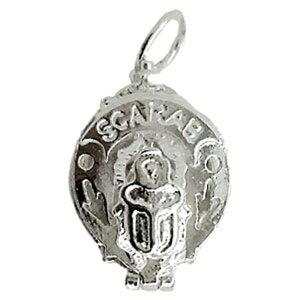 スカラベ 古代エジプト シルバー チャーム イギリス製 アクセサリー パーツ ネックレス ピアス ブレスレット 銀 925 かわいい ギフト プレゼント 贈り物 メール便OK