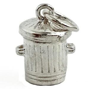 バケツねこ 猫 シルバー チャーム イギリス製 アクセサリー パーツ ネックレス ピアス ブレスレット 銀 925 かわいい ギフト プレゼント 贈り物 メール便OK