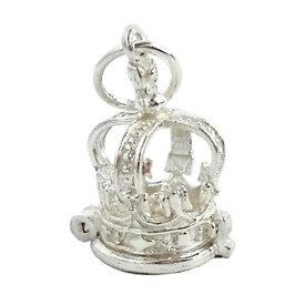 王冠 かえるの王子様 シルバー チャーム イギリス製 アクセサリー パーツ ネックレス ピアス ブレスレット 銀 925 かわいい ギフト プレゼント 贈り物 メール便OK