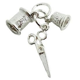ソーイング ニードル セット シルバー チャーム イギリス製 アクセサリー パーツ ネックレス ピアス ブレスレット 銀 925 かわいい ギフト プレゼント 贈り物 メール便OK