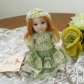 Marigio マリジオ 陶製 ビスクドール 少女(ベビーM・グリーン) イタリア マリア・ロッシ 作