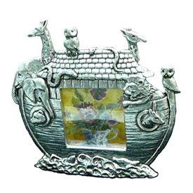 ノアの方舟 フォトフレーム ピューター製 英国 AEW社 インテリア 雑貨 卓上 写真立て ピューター 錫 箱舟 聖書