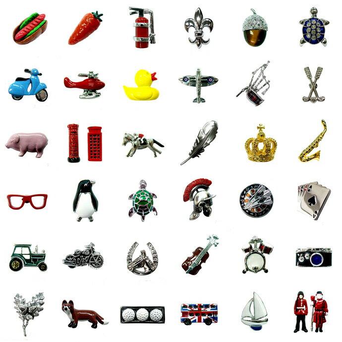 ピンバッジ ラペルピン ピンズ スーツ メンズ レディース おしゃれ 面白い ユニーク 珍しい イギリス 動物 趣味 景品 ピンブローチ デザイン:英国 カドガン社 [メール便OK]