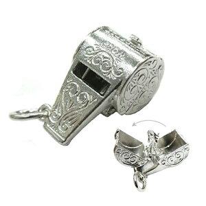 ウルフホイッスル 狼の笛 シルバー チャーム イギリス製 アクセサリー パーツ ネックレス ピアス ブレスレット 銀 925 かわいい ギフト プレゼント 贈り物 メール便OK