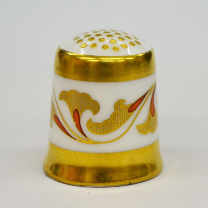 ヴィンテージ ソーイング 裁縫 アイテム インテリア 雑貨 かわいい 指貫 指ぬき Royal Crown Derby アンティーク 陶磁器 シンブル 1984年頃 The Art Deco 1900 英国 ロイヤルクラウンダービー