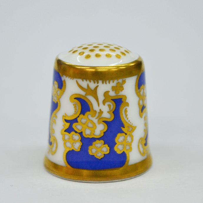 ヴィンテージ ソーイング 裁縫 アイテム インテリア 雑貨 かわいい 指貫 指ぬき Royal Crown Derby アンティーク 陶磁器 シンブル 1987年頃 The Art Nouveau 1890 英国 ロイヤルクラウンダービー
