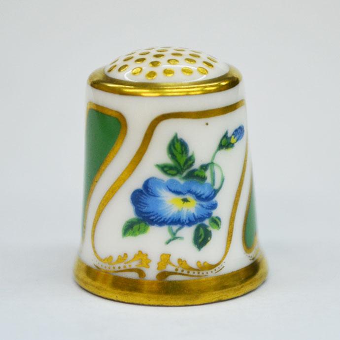 ヴィンテージ ソーイング 裁縫 アイテム インテリア 雑貨 かわいい 指貫 指ぬき Royal Crown Derby アンティーク 陶磁器 シンブル 1985年頃 The Moses Webster 1825 英国 ロイヤルクラウンダービー