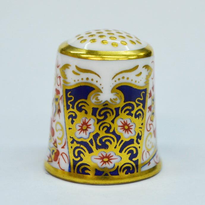 ヴィンテージ ソーイング 裁縫 アイテム インテリア 雑貨 かわいい 指貫 指ぬき Royal Crown Derby アンティーク 陶磁器 シンブル 1984年頃 The Traditional Imari 1889 英国 ロイヤルクラウンダービー