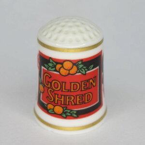 アンティーク裁縫、ソーイング シンブル・指ぬき フランクリンミント(アメリカ) 広告シンブル TheVillageShopシリーズ 1982年頃 陶磁器製