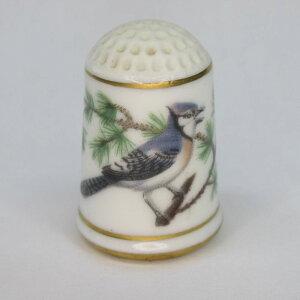アンティーク裁縫、ソーイング シンブル・指ぬき フランクリンミント(アメリカ) ガーデンバード・限定版 1979年頃 陶磁器製