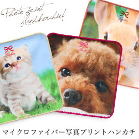 【全品10倍10/21 9:59迄】日本製 マイクロファイバー 写真プリント ハンカチ/ギフト