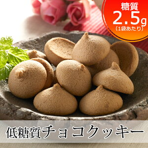 糖質オフ チョコクッキー(低糖質 クッキー ダイエット食品 糖質制限 スイーツ ダイエット クッキー 低糖質 お菓子 ビスケット 低糖質 焼き菓子 砂糖不使用 チョコレートクッキー ノンシュガ