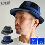 帽子ハットメンズレディースデニムパッチワークRubenルーベン