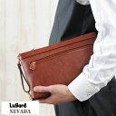 青木鞄 Lugard 牛ヌメ革スリムセカンドバッグ Lサイズ 日本製 NEVADA No.5072
