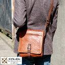 OXiDe スクエアショルダーバッグ /男性用 メンズ/斜めがけバッグ/レザーバッグ/A5 iPad mini/革 本革 馬革/鞄 かばん バッグ/ホースレザー...